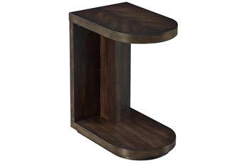 Chocolate Curved Accent Table