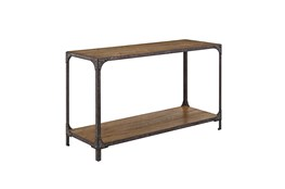Industrial Wood And Metal Sofa Table