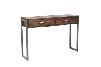 Two Drawer Accent Storage Console Table