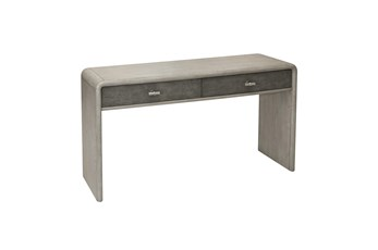 Grey Oak And Shagreen Console Table