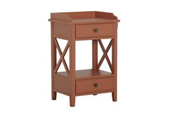 Two Drawer Clay X Side Table