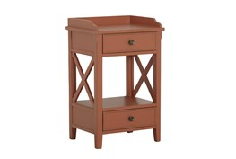 Two Drawer Clay X End Table
