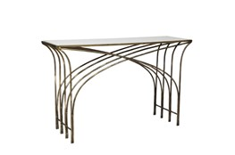 Gold And White Marble Console Table