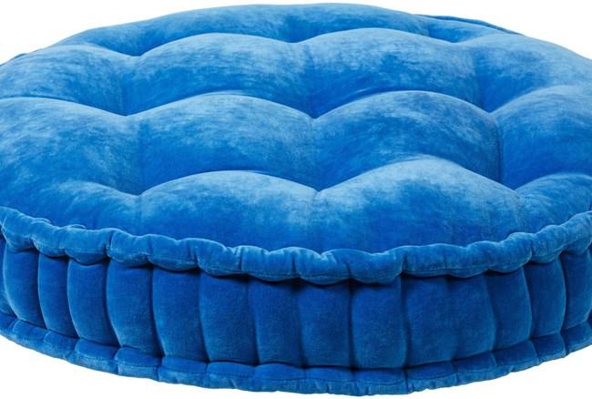 Accent Pillow-Bright Blue Velvet 30X30 - 360