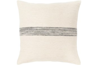 Accent Pillow-Ivory With Black Stripe 20X20