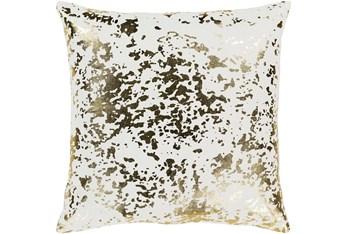 Accent Pillow-White Metallic Gold Specs 18X18