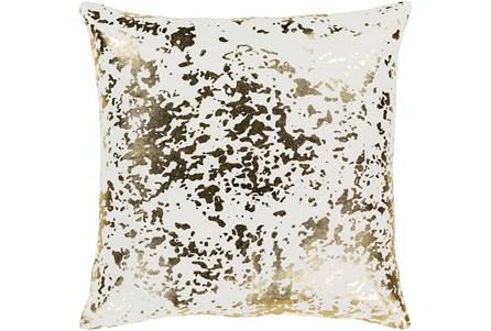 Accent Pillow-White Metallic Gold Specs 18X18 - Main