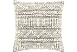 Accent Pillow-Cream Textured Stripes 18X18