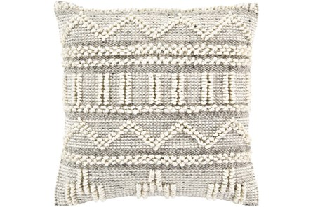Accent Pillow-Cream Textured Stripes 18X18 - Main