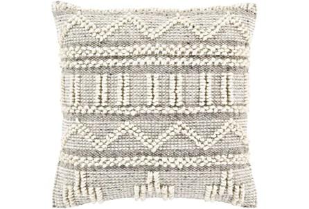 Accent Pillow-Cream Textured Stripes 18X18 - Main