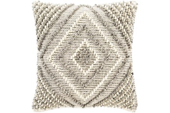 Accent Pillow-Cream And Khaki Diamond 22X22