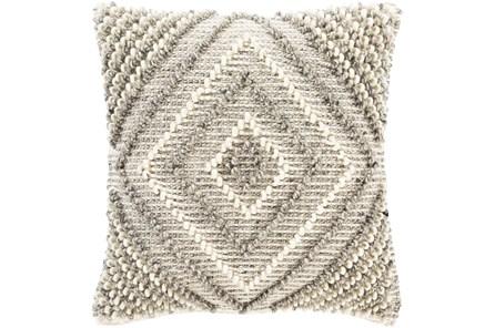 Accent Pillow-Cream And Khaki Diamond 22X22 - Main