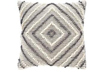 Accent Pillow-Cream And Grey Diamond 22X22