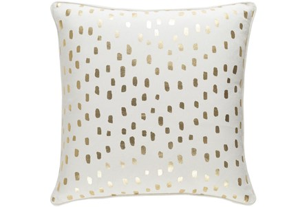 Accent Pillow-Cream And Gold Foil Prints 18X18 - Main