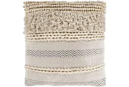 Accent Pillow-Beige Textured Stripes 22X22
