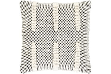 Accent Pillow-Cream And Black Checked 18X18
