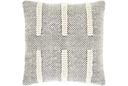 Accent Pillow-Cream And Black Checked 18X18 - Main