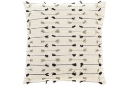 Accent Pillow-Cream With Tassels 20X20