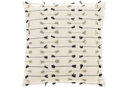 Accent Pillow-Cream With Tassels 20X20 - Main