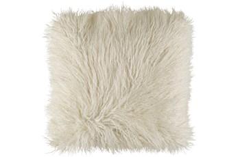 Accent Pillow-White Faux Fur 20X20