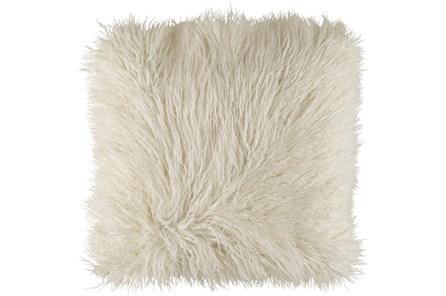Accent Pillow-White Faux Fur 20X20 - Main
