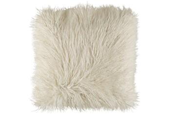 Accent Pillow-White Faux Fur 22X22