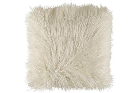 Accent Pillow-White Faux Fur 22X22 - Main