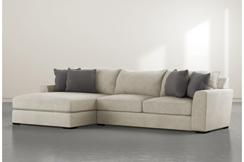 """Delano Thrillist 2 Piece 136"""" Sectional With Left Arm Facing Chaise"""