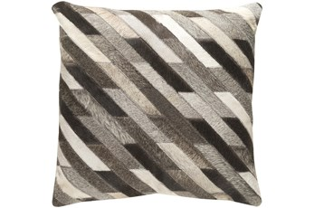 Accent Pillow-Brown And Grey Hair On Hide-18X18
