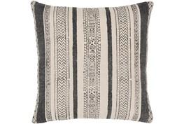 Accent Pillow-Black And Cream Stripe 20X20