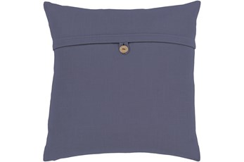 Accent Pillow-Navy With Button 18X18