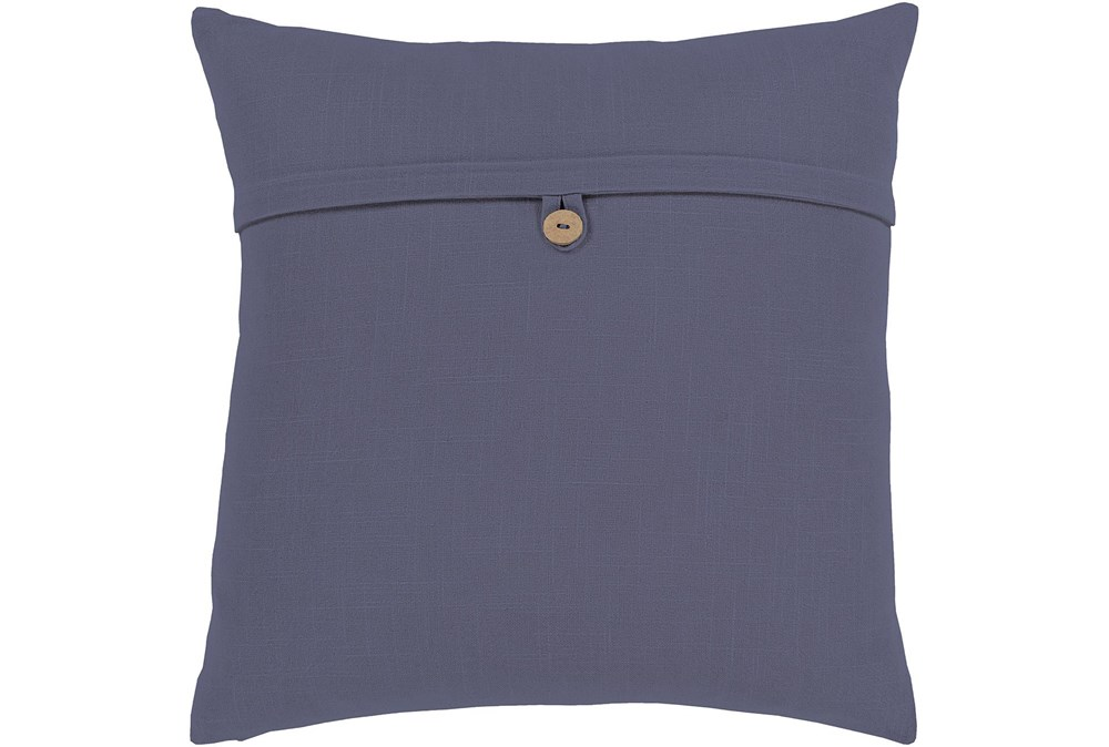 Accent Pillow-Navy With Button 20X20