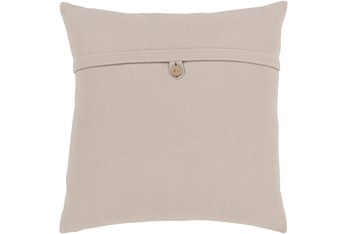 Accent Pillow-Taupe With Button 18X18