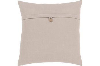 Accent Pillow-Taupe With Button 20X20