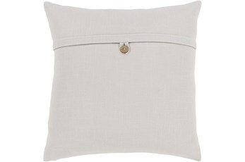 Accent Pillow-Ivory With Button 18X18