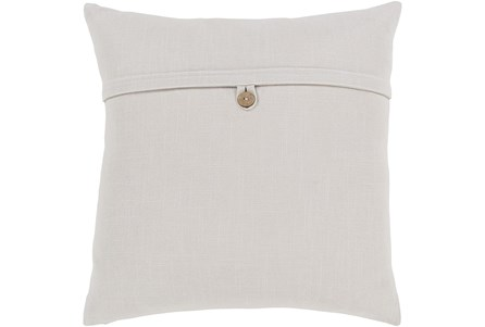 Accent Pillow-Ivory With Button 20X20 - Main