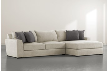 """Delano Thrillist 2 Piece 125"""" Sectional With Right Arm Facing Chaise"""