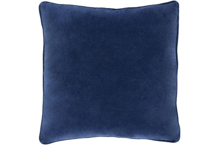 Accent Pillow-Navy Velvet 18X18 - Main
