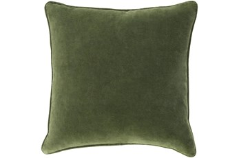 Accent Pillow-Grass Green Velvet 22X22