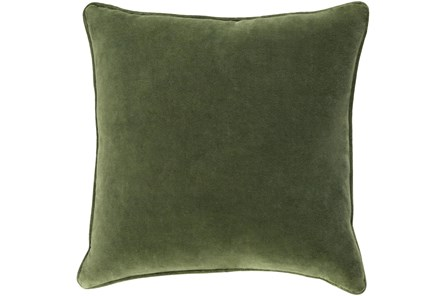 Accent Pillow-Grass Green Velvet 22X22 - Main