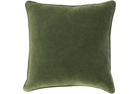 Accent Pillow-Grass Green Velvet 22X22 - Main