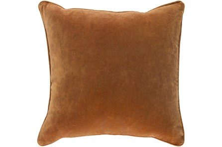 Accent Pillow-Burnt Orange Velvet 18X18 - Main