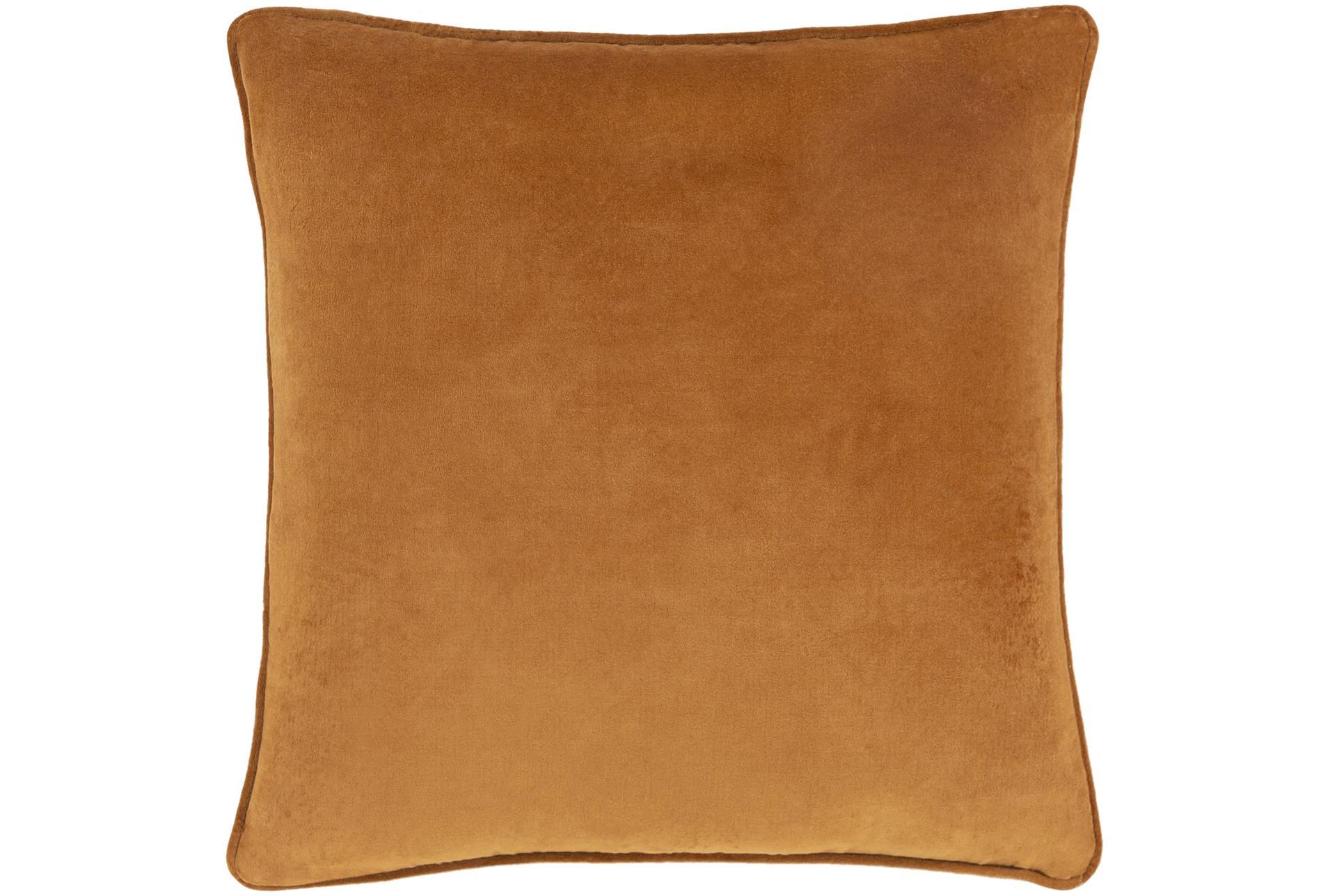 Accent Pillow Burnt Orange Velvet 20x20 Living Spaces
