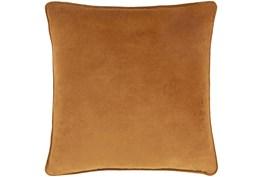 Accent Pillow-Burnt Orange Velvet 22X22