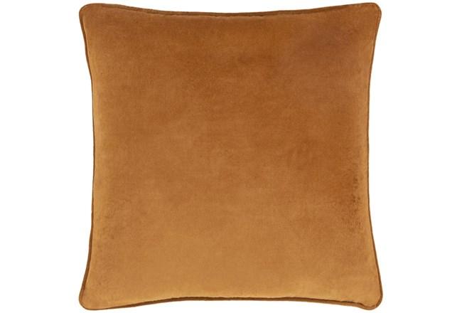 Accent Pillow-Burnt Orange Velvet 22X22 - 360