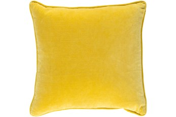 Accent Pillow-Saffron Velvet 18X18