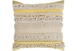 Accent Pillow-Butter Textured Stripes With Sequins 18X18