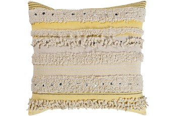 Accent Pillow-Butter Textured Stripes With Sequins 20X20