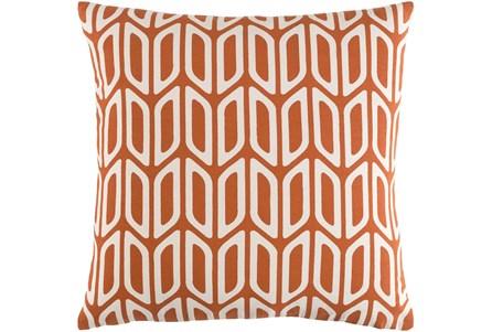 Accent Pillow-Burnt Orange And Cream Geometric 18X18 - Main