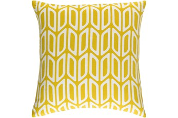 Accent Pillow-Mustard And Cream Geometric 18X18